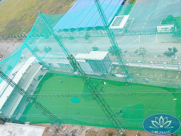 Hệ thống lưới bao che sân tập golf do Golffami thi công thuộc dự án khu chung cư Famille Hà Nam