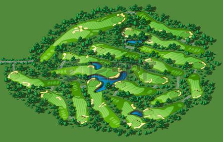 Phối cảnh 3D của sân golf