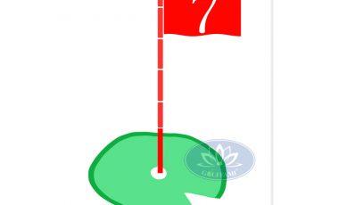 Tâm phát bóng golf hình lá cờ