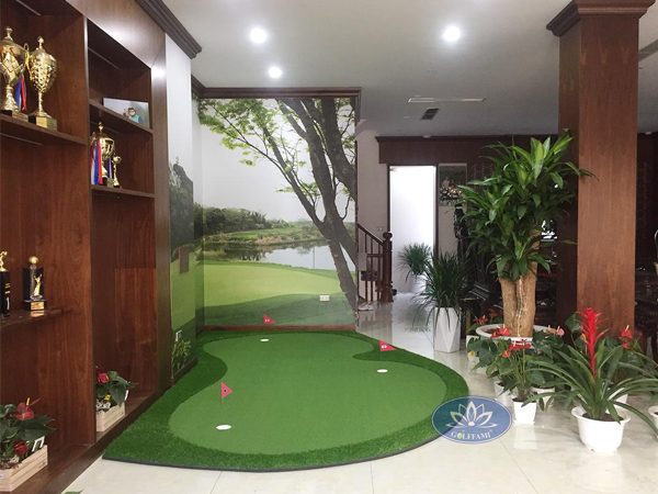 Thi công sân golf mini trong nhà