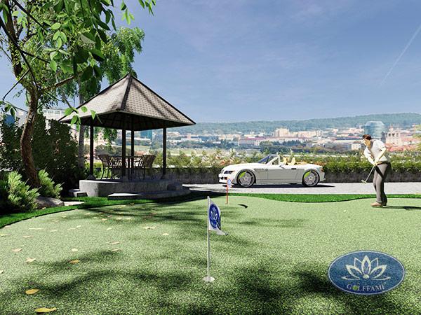Bản vẽ thiết kế sân tập golf