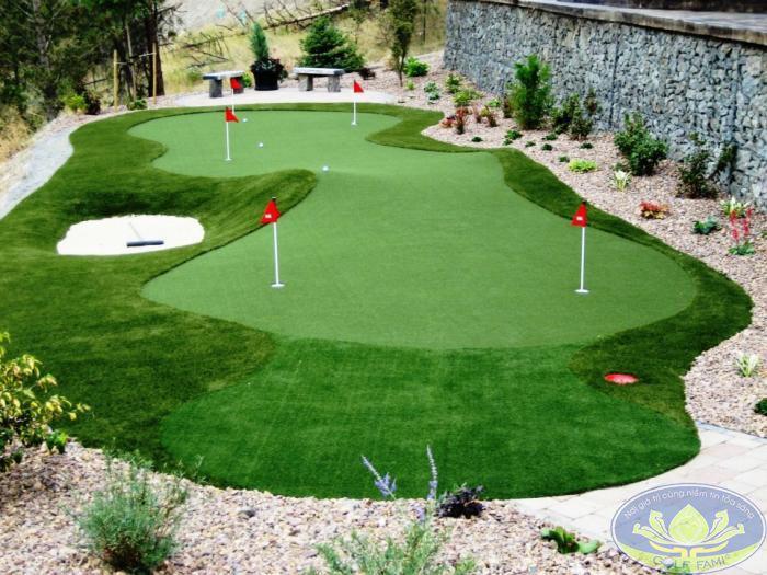 Dịch vụ thiết kế thi công sân tập golf tại Golffami