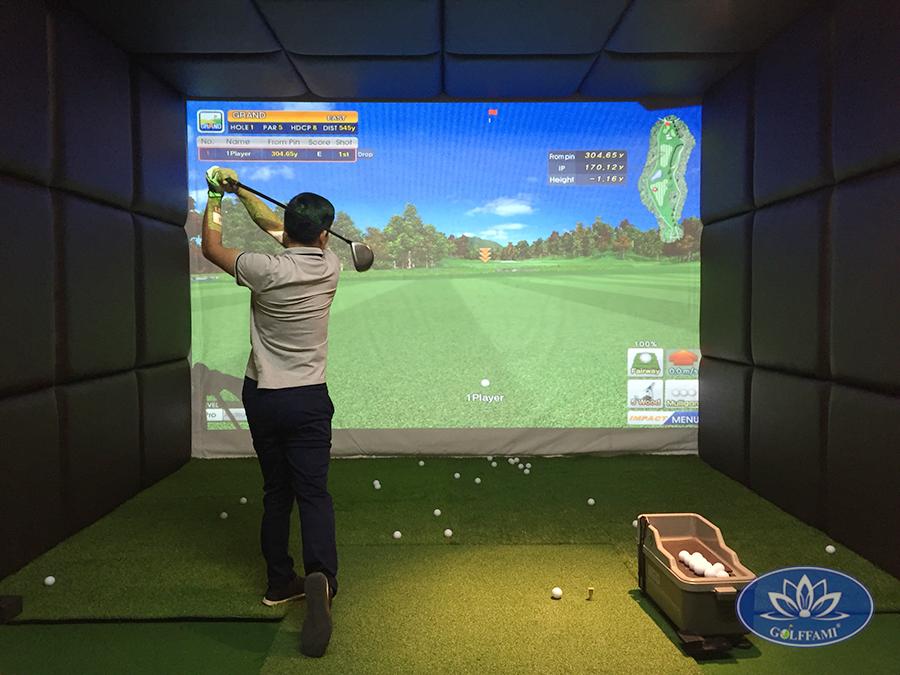 Phòng golf 3d hiện đại