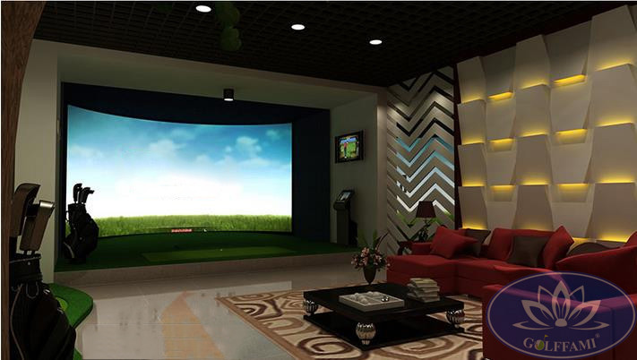 Mô hình phòng tập golf 3D