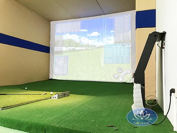Phòng golf 3D do Golffami thi công lắp đặt