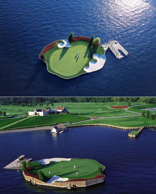 Sân golf nổi duy nhất trên thế giới