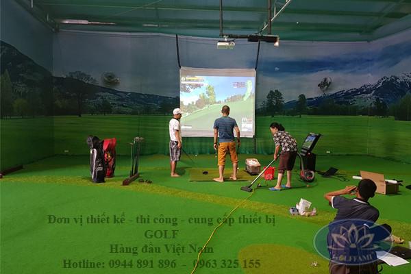 Dịch vụ thiết kế thi công hệ thống golf 3D của Golffami