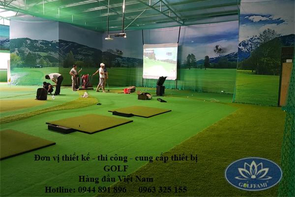 Trường Phú Thuận thi công phòng tập gofl 3D tại Lào Cai.