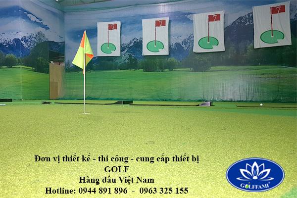 thi công phòng golf 3d