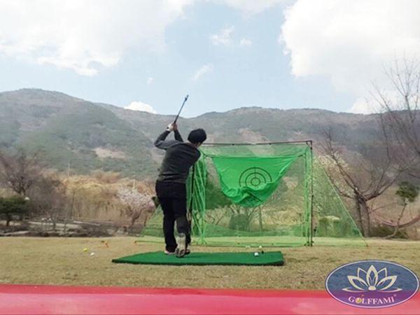 Bộ khung tập golf Hàn Quốc có thể lắp đặt ở nhiều vị trí