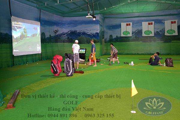 Đơn vị thi công lắp đặt chơi golf màn hình 3D trong nhà