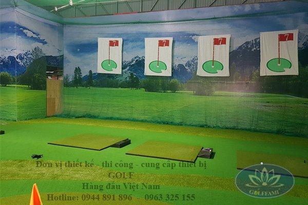 Chơi golf màn hình 3D trong nhà