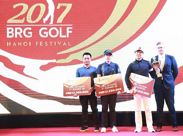 Tham dự lễ trao Giải BRG Golf Hà Nội Festival 2017