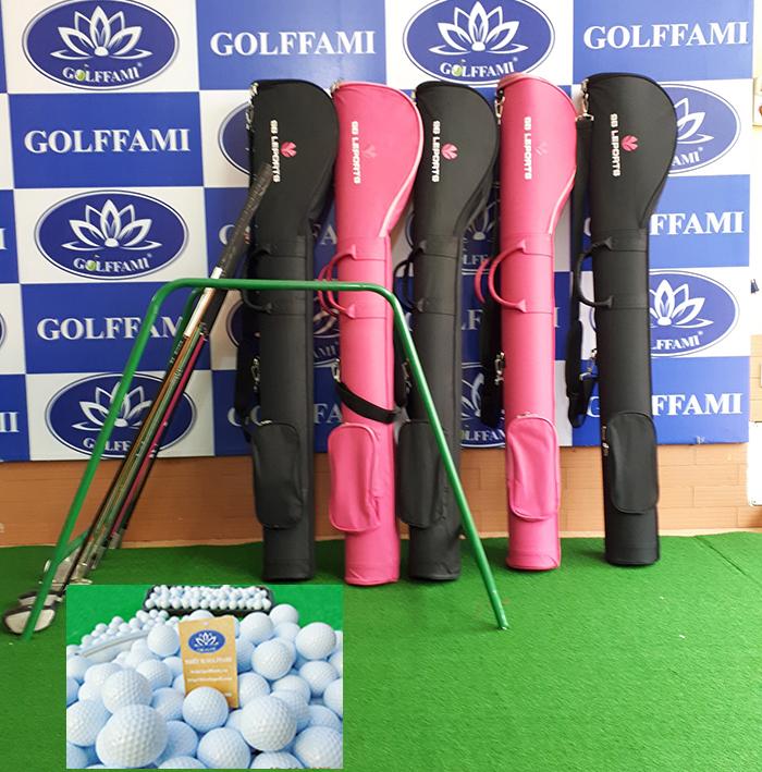 Bộ gậy tập golf Hàn Quốc và bóng