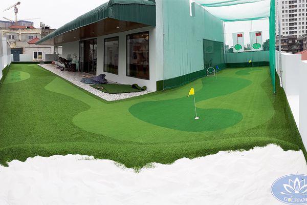 Công trình mini golf sân thượng tại 389 Group