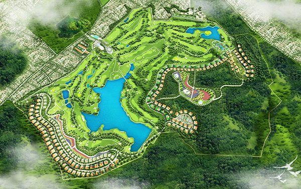 Hình ảnh tổng thể của sân golf Chí Linh