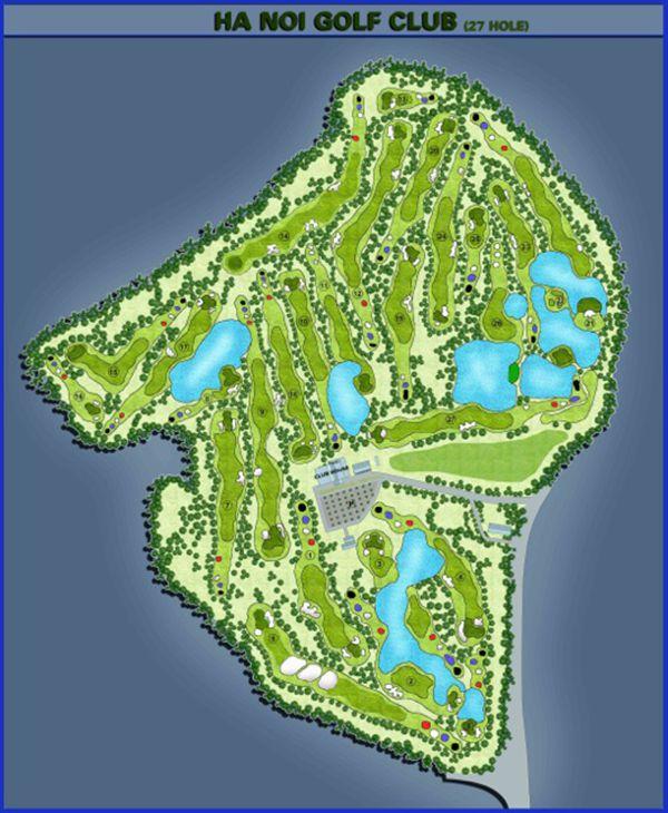 Hình ảnh mô tả 27 hố golf của Hanoi Golf Club