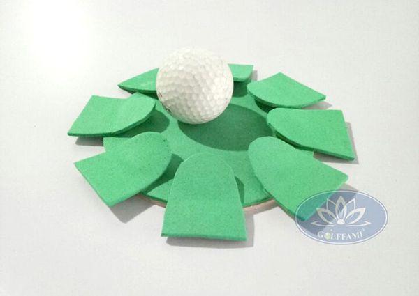 Lỗ golf theo hình cánh hoa nổi của thảm tập golf putting Gomip25