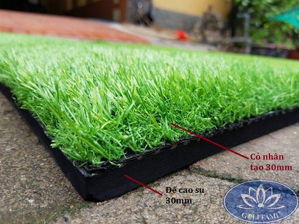 Phần đế và cỏ của thảm tập golf Gomit06