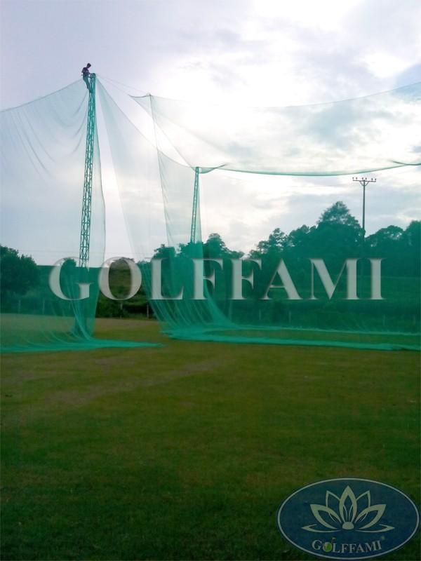 Thi công nhà lưới sân tập golf Devyt