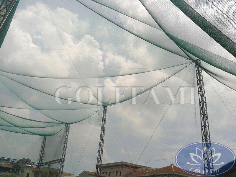 thi công lưới golf sân tập golf bộ Quốc Phòng