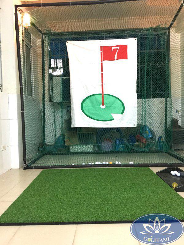 Lắp đặt bộ khung tập golf trong nhà