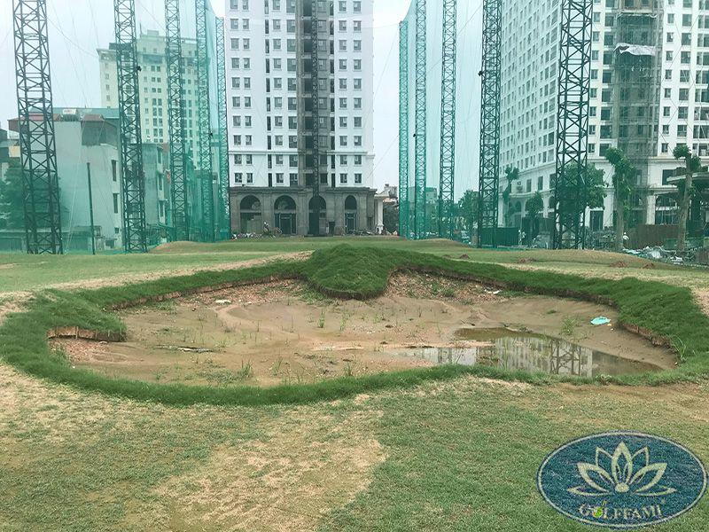Thi công lưới sân tập golf Ecolen