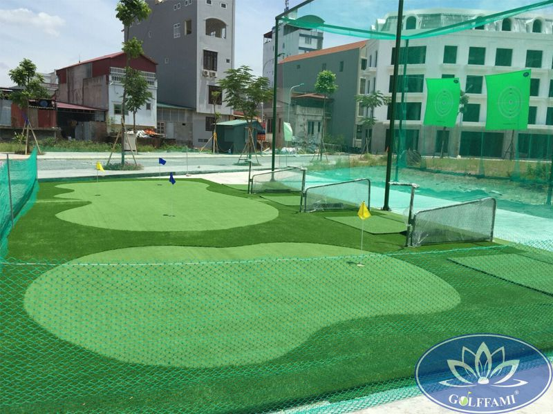Kích thước sân tập golf mini