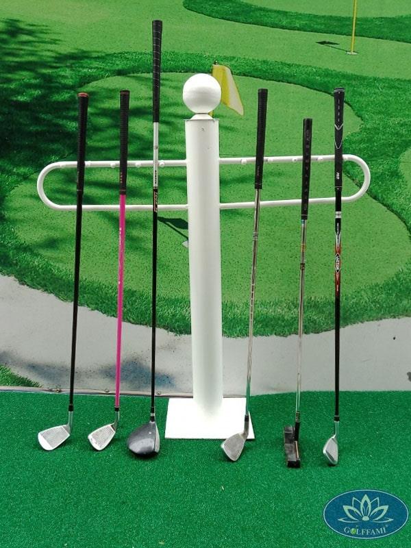 Giá để gậy golf chất lượng cao màu trắng