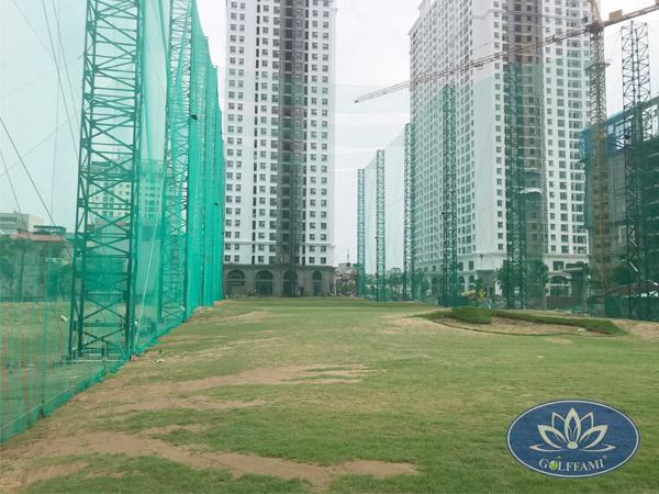Golffami thi công lưới sân tập golf Ecolen