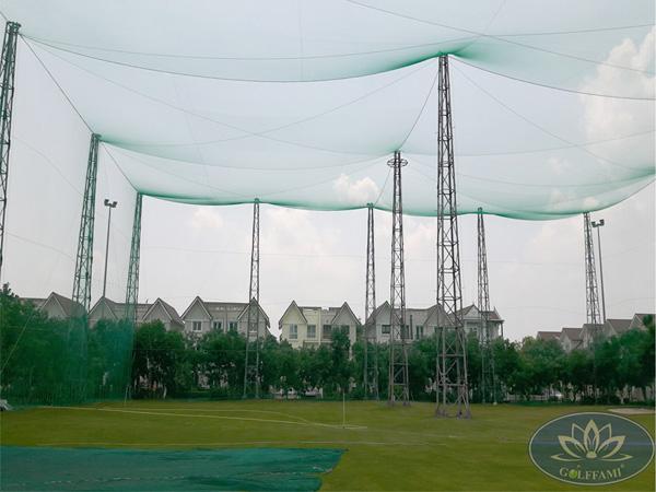 Dự án thi công lưới sân tập golf Golffami tại vinhome riverside