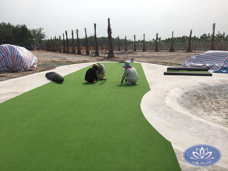 Thi công sân tập golf Tây Ninh