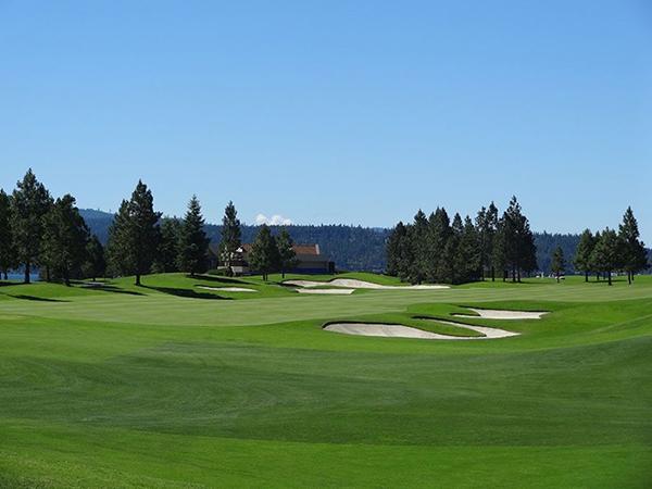 sân golf 'trôi' Coeur d'Alene Resort Golf Course tại Mỹ